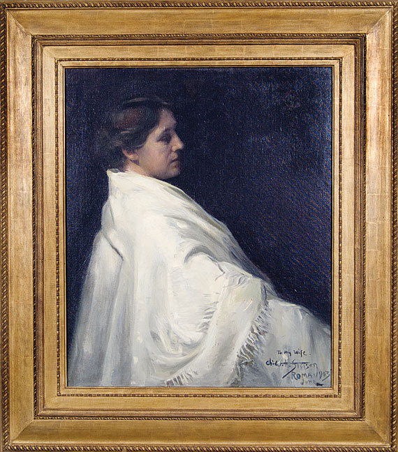 Portrait of the Artist's Wife, Grace Ellery Channing Stetson